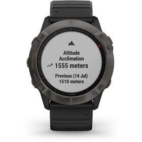 Garmin Fenix 6X Sapphire DLC Multisport GPS Smartwatch, czarny